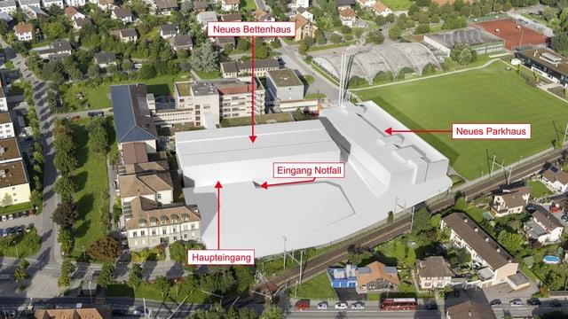 Das überarbeitete Ausbau-Projekt des Spitals Burgdorf.