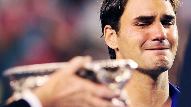 Roger Federer nach der Niederlage im Australian Open Finale 2009.