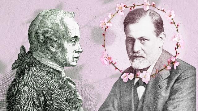 Bildmontage mit zwei Philosophen