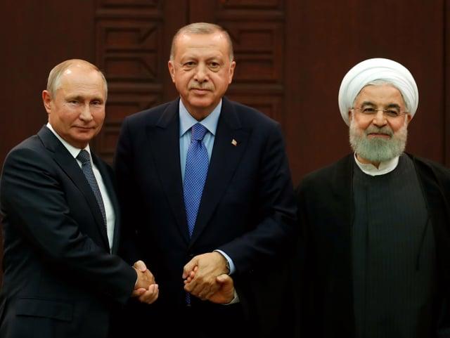 Erdogan, Putin und Rohani