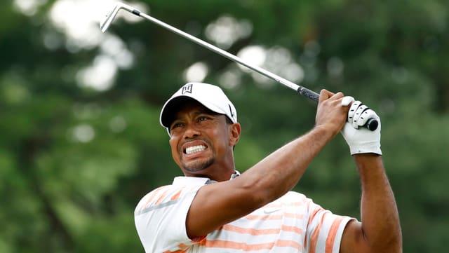 Tiger Woods zeigte in der 2. Runde eine verbesserte Leistung.