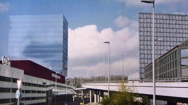 Skizze Neubau Glattzentrum.