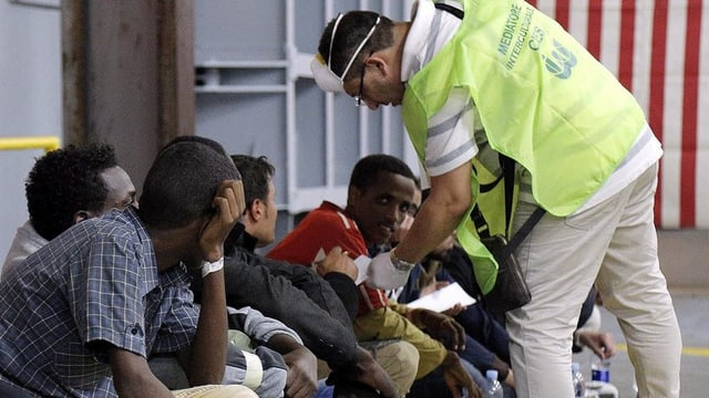 Flüchtlinge in Italien.