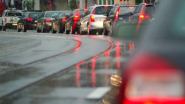 Verkehrsstau in Bern