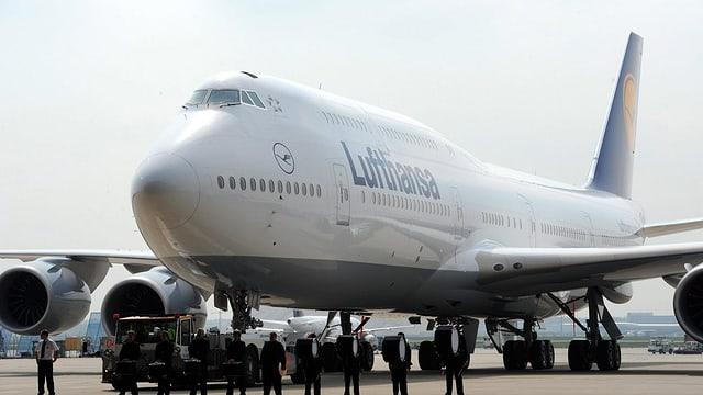 Boeing 747-8 in Frankfurt