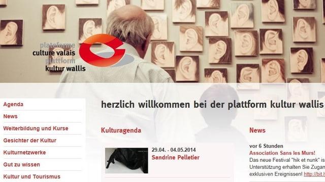 Plattform Kultur Wallis im Internet - Präsentationsbühne und Ratgeber für die Kulturschaffenden.