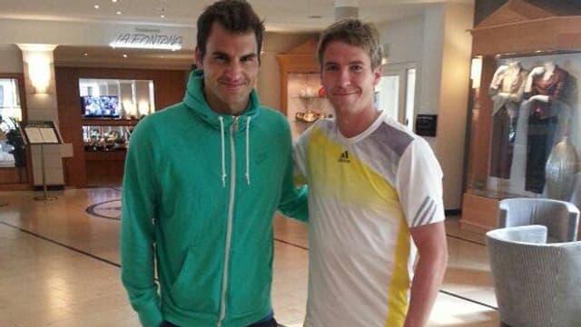 «Habe ein wenig mit Roger geplaudert», postete Stebe. (Facebook)