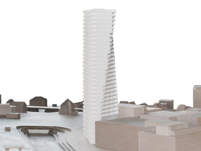 Visualisierung des Hochhauses
