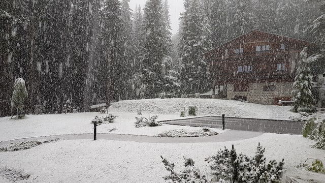Am 13. und 14. Juli schneite es in Arosa.
