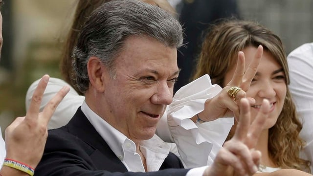 Il president da la Columbia, Juan Manuel Santos.