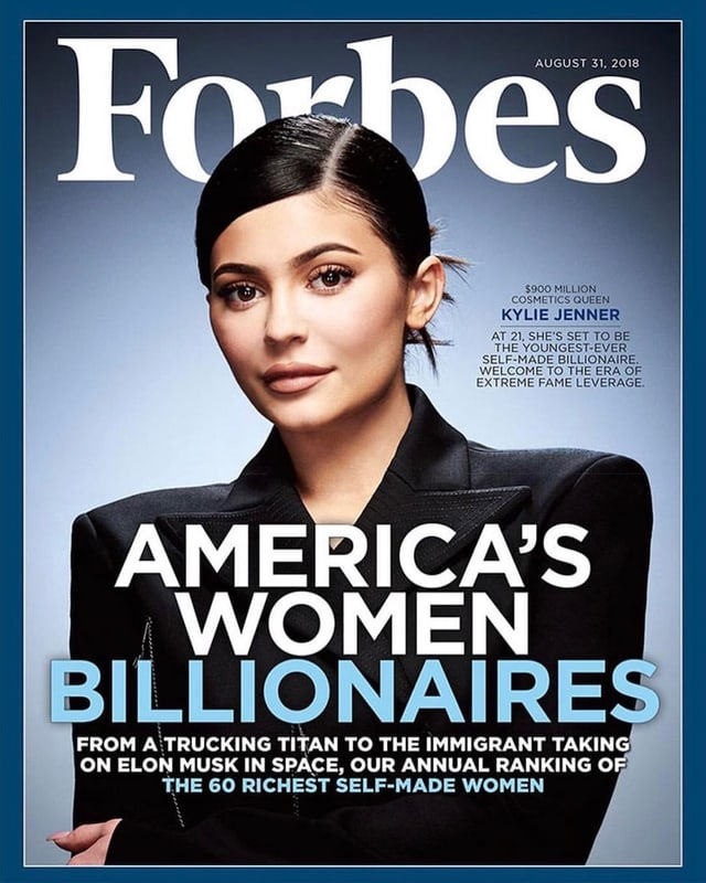 Kylie Jenner auf dem «Forbes»-Cover.