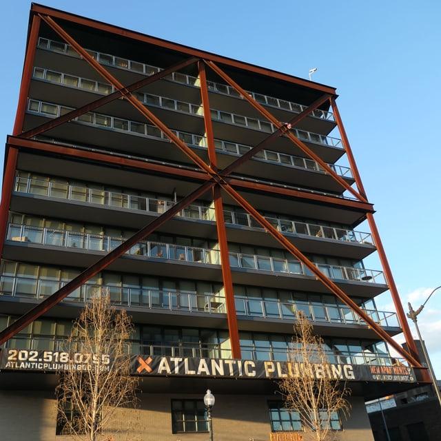 Das Gebäude der «Atlantic Plumbing» .