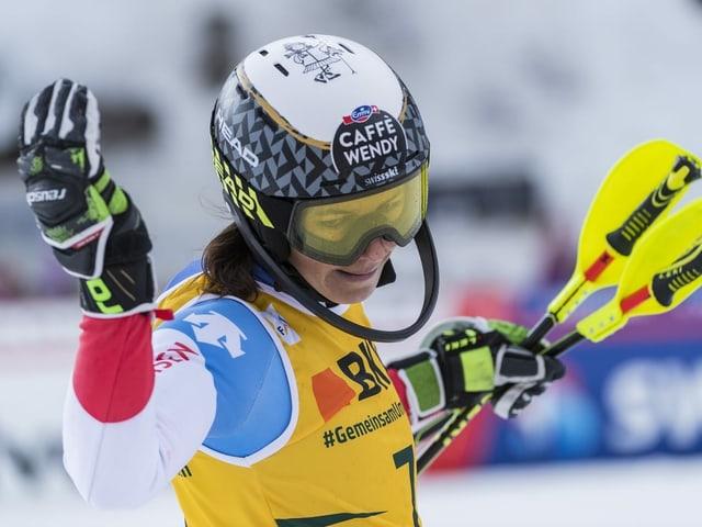 Wendy Holdener entscheidet kurzfristig über einen Start in Sölden.