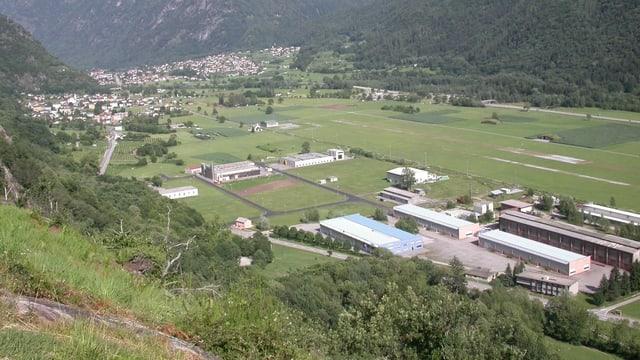Vista sur la zona d'industria da San Vittore.