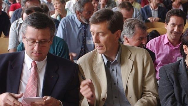 Gemeinsam geht's besser: Andres Türler (FDP), Martin Waser (SP).
