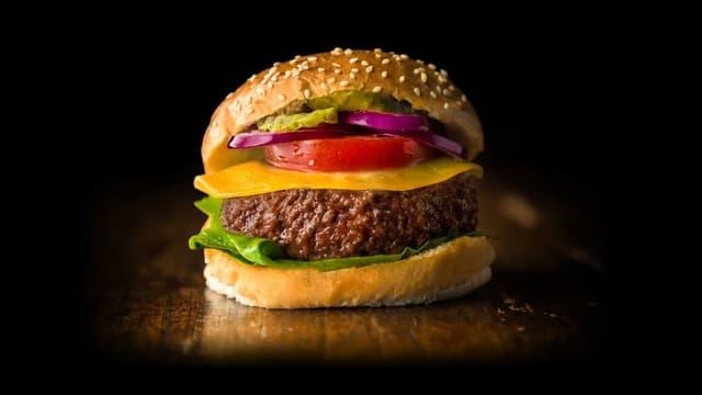 Hamburger mit Laborfleisch