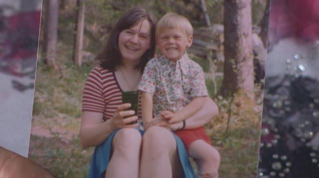 Kinderfoto von Vreni und Bernhard.
