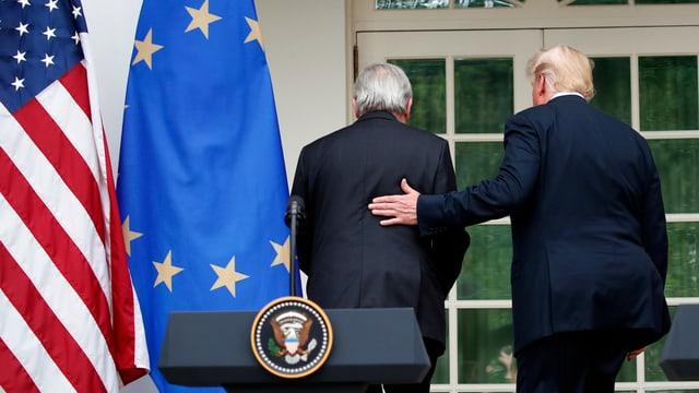 Treffen Trump/Juncker.