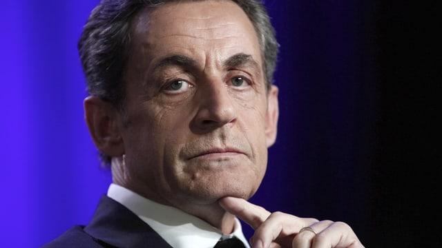 Porträt von Nicolas Sarkozy.