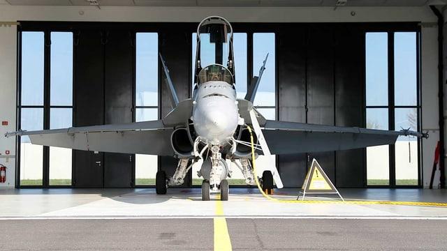 F/A-18 in Hangar