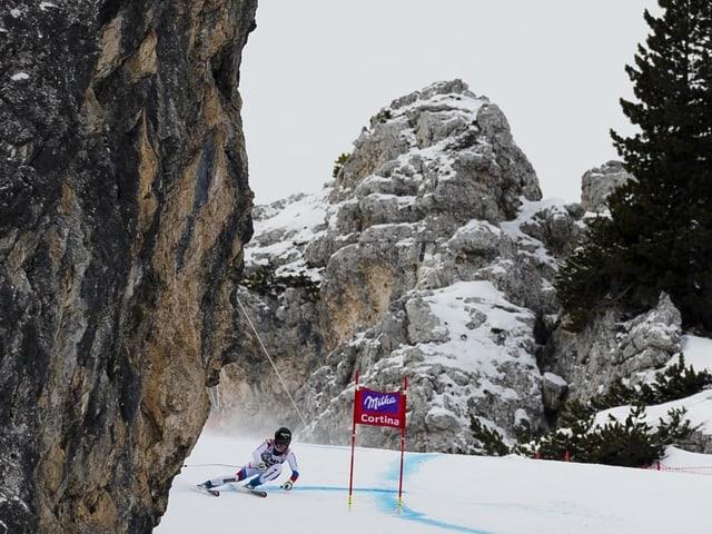 Die Strecke in Cortina d'Ampezzo.