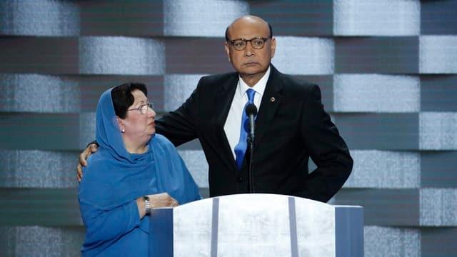 Haben ihren Sohn im Krieg verloren: Ghazala und Khizr Khan.