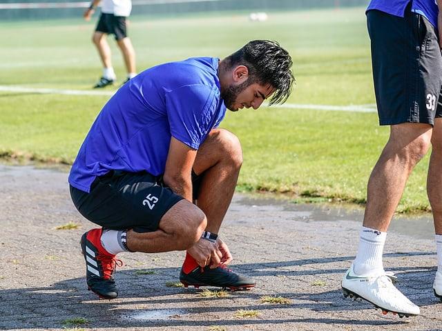 Carlos Zambrano im Training.