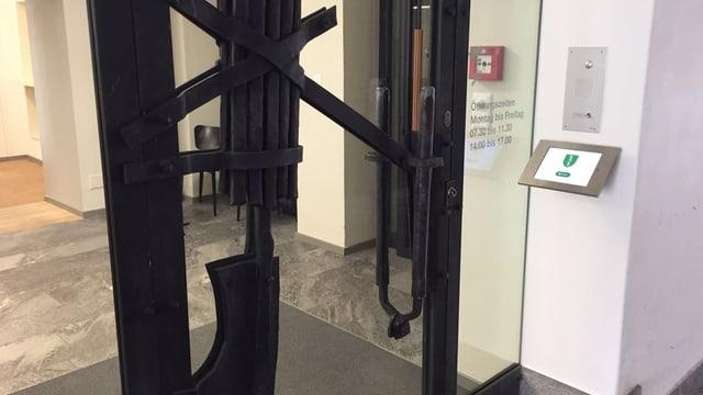 Eingang zum St. Galler Regierungsgebäude.