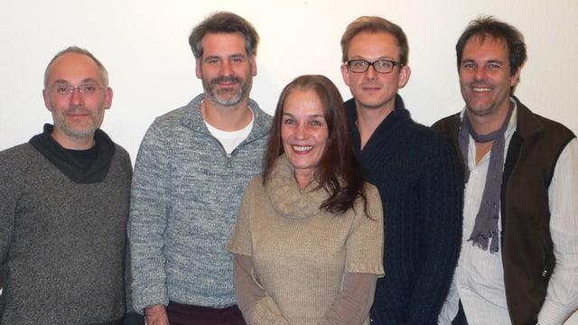 Vertreter der neugegründeten IG: (v.l.) Manfred Ferrari, Nikolaus Schmid, Ursina Hartmann, Roman Weishaupt, René Schnoz.