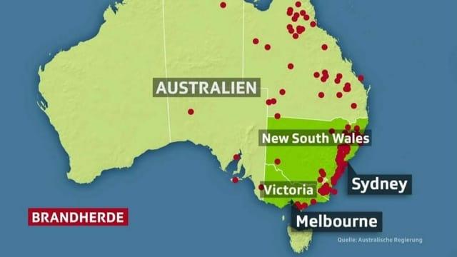 Karte der bedrohten Gebiete