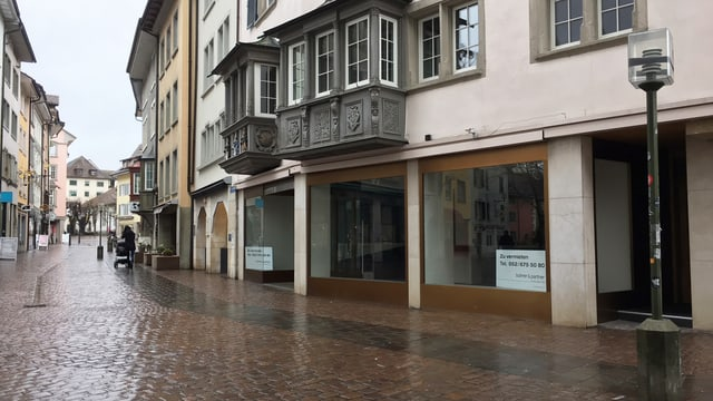 Leeres Geschäft in der Schaffhauser Innenstadt
