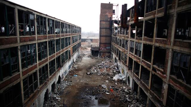 Niedergang im so genannten «Rust Belt»: Verlassene Produktionsstätte von Packard Motor Car in Detroit.