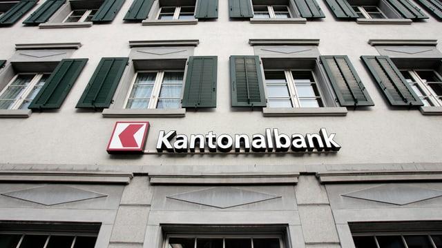 Gebäude mit Aufschrift Kantonalbank.
