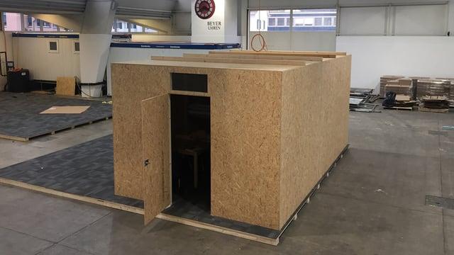 Ikea-Holzhäuschen