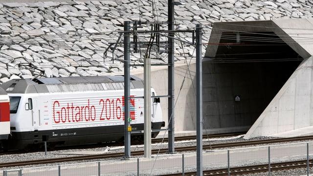 Der neue Gotthard-Eisenbahntunnel.