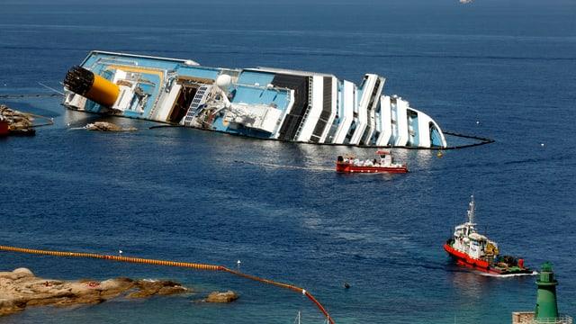 Havarierte «Costa Concordia» vor der italienischen Insel Giglio