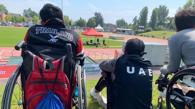 Das internationale Teilnehmerfeld ist gross: Hier im Bild Rollstuhlsportler aus Thailand und den Vereinigten Arabischen Emiraten.