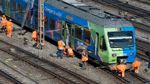 Il tren a Lucerna ils 29-03-2017.