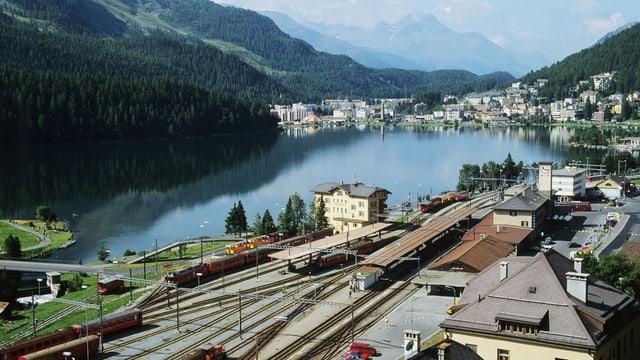 Luftaufnahme St. Moritz.