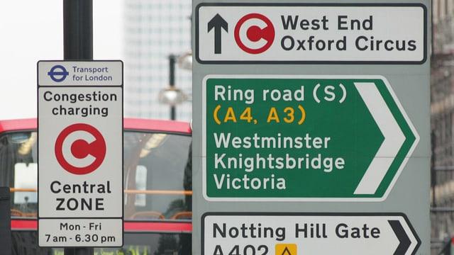 City-Maut-Schild in London