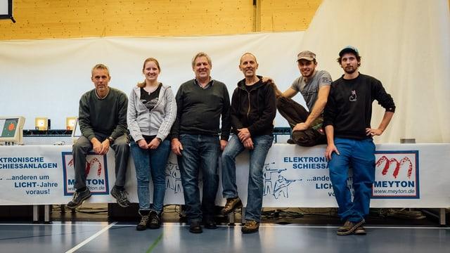 Lotar, Elena, Hubert, Baseli, Andri e Nicolas Tomaschett