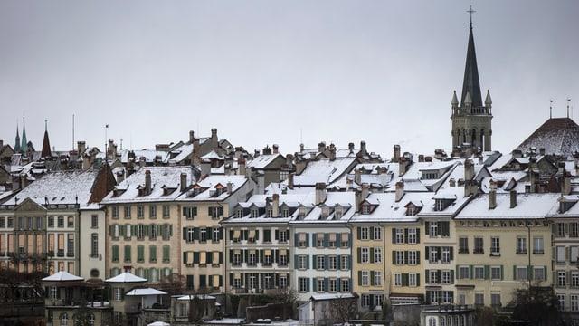 Ein Teil der Altstadt von Bern.