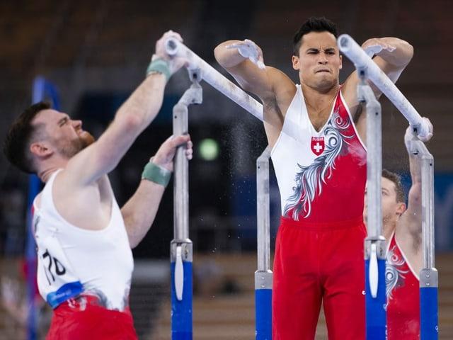 Eddy Yusof und Benjamin Gischard motiviert.