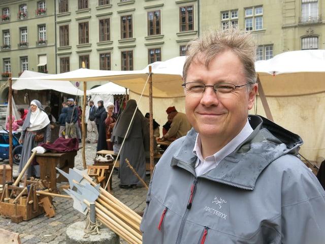 Armand Baeriswyl am Rathausfest Bern 1417