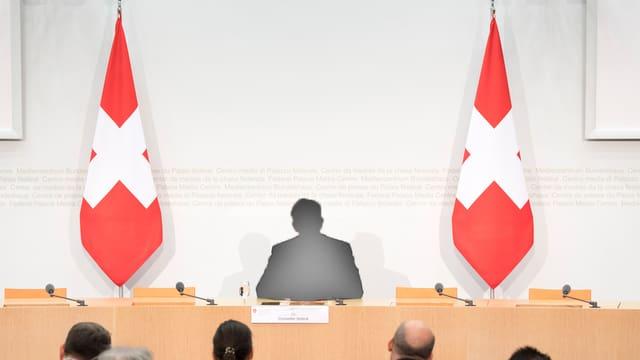Die Rüchtritts-Konferenz von Burkhalter ohne Burkhalter.