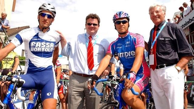 Fabian Cancellara 2003 zusammen mit Ferdy Kübler.