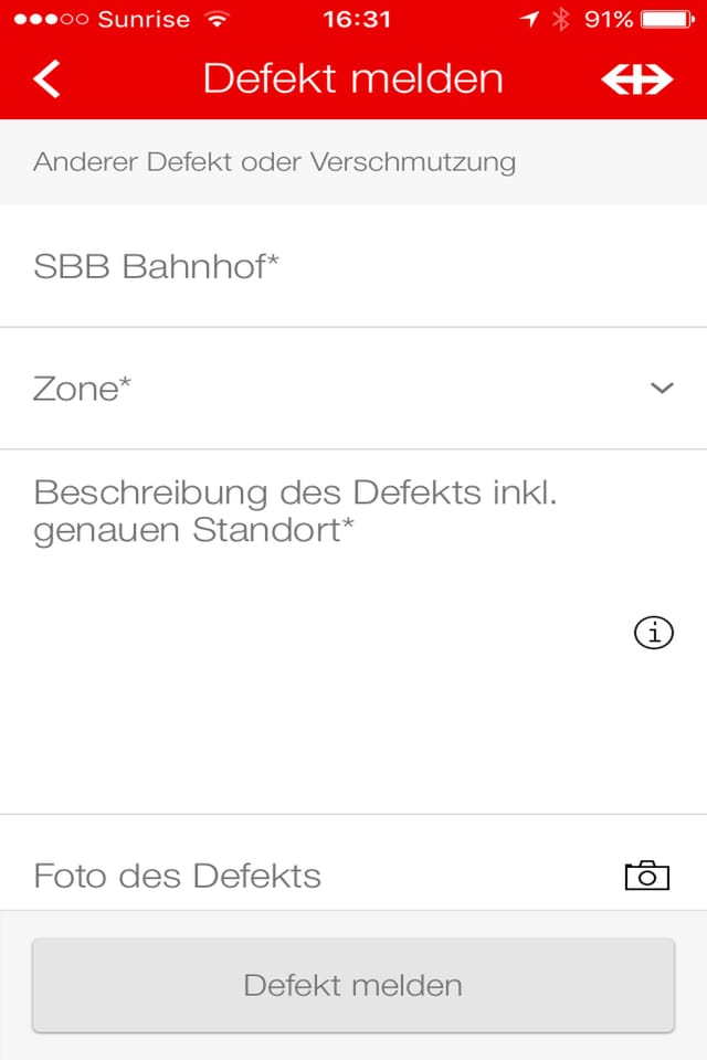Screenshot eines iphones