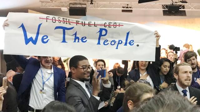Proteste gegen den Auftritt der US-Regierung