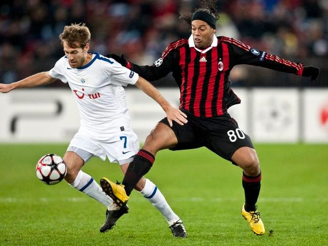 Aegerter gegen Ronaldinho