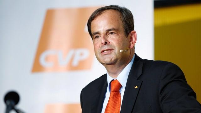 Gerhard Pfister am Sommerparteitag der CVP in Appenzell, 20.8.16